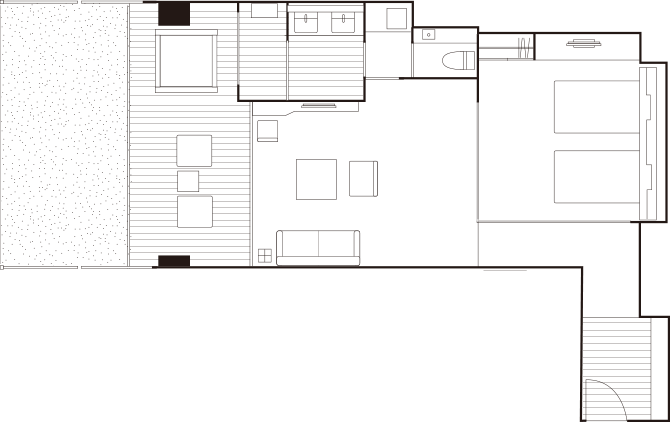 Premium Suites 84㎡ Floor plan