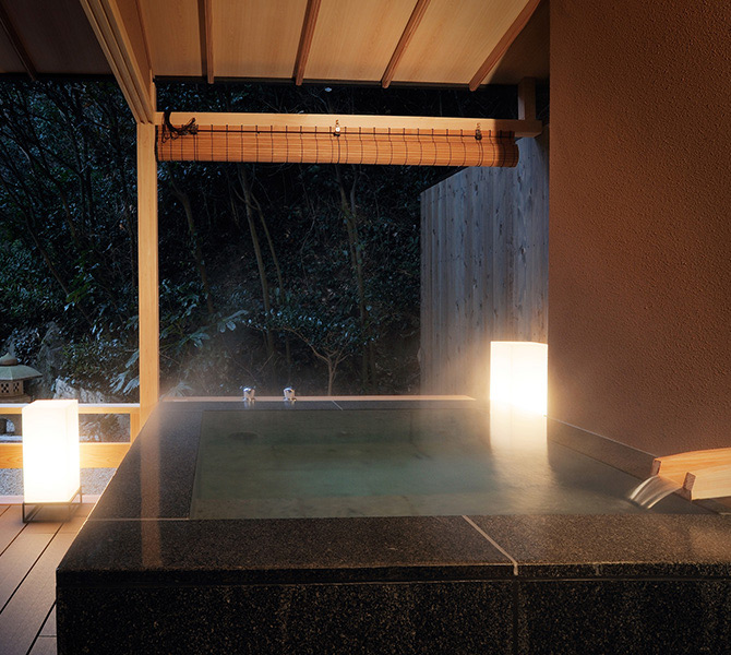 Night Hinoki's Outdoor bath